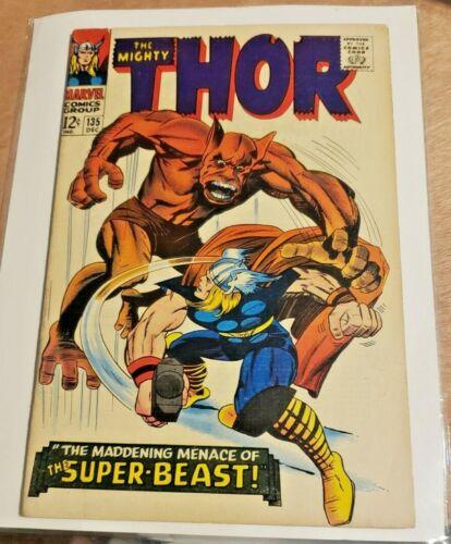 THOR # 135   ( 1966 )     MARVEL COMICS  SHARP COPY!  High Evolutionary Origin