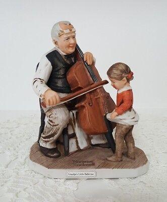 Norman Rockwell Figurine NR-32 GRANDPA'S LITTLE BALLERINA Music Dance Grossman Grandpas Little Ballerina