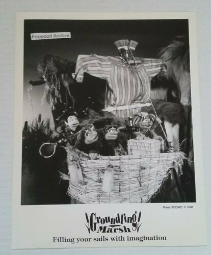 1994 Vintage GROUNDLING MARSH Original Press Photo Kids TV Environmental Green