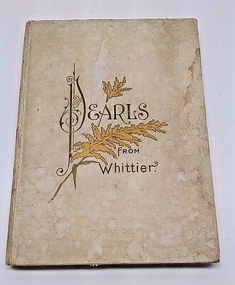 Vintage Hc Pearls From Whittier John Greenleaf Poems Color Lithos