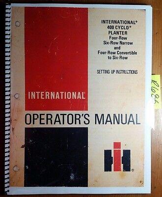 Ih International Harvester 400 Cyclo Planter 4 6 Row Narrow Convertible Manual