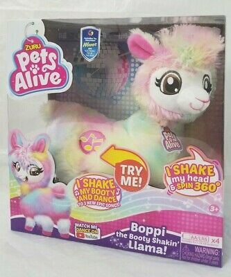 ZURU Pets Alive Rainbow Bonnie The Booty Shakin Llama Dancing Robotic Toy - F S