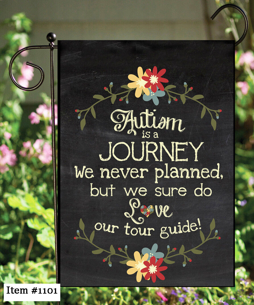 autism journey double sided soft flag garden