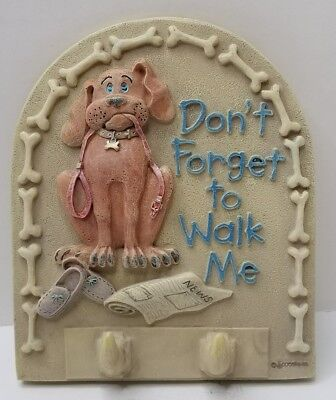 Spoontiques Leash Holder, Don't Forget to Walk the Dog Wall Plaque  Walk Leash Holder