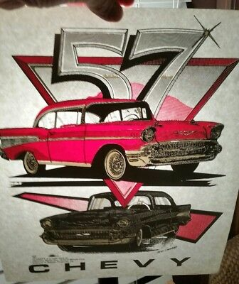 Retro Vintage 57 Chevy Heat Press Transfer- Lot Of 2