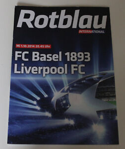Programme for collectors CL FC Basel Liverpool FC 2014 Switzerland England - Poznan, Polska - Programme for collectors CL FC Basel Liverpool FC 2014 Switzerland England - Poznan, Polska