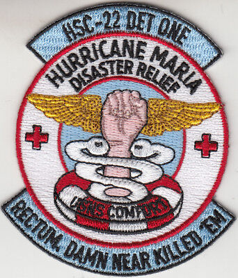 Hsc 22 Det One Hurricane Maria Disaster Relief Patch