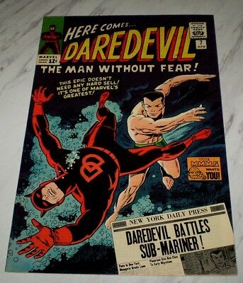 Daredevil #7 NM+ 9.6 OW/W pages 1965 Marvel Sub-Mariner battle & new red costume