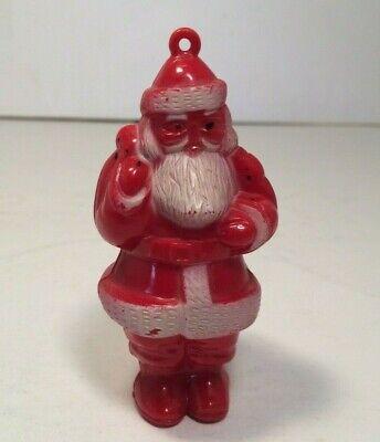 Vintage 1950's Hard Plastic Santa Claus Ornament 3 1/8'' -