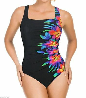 NWT Women's  Blk MIRACLESUIT Sideswipe SWIMSUIT by Kirkland Bathing Suit Size 12