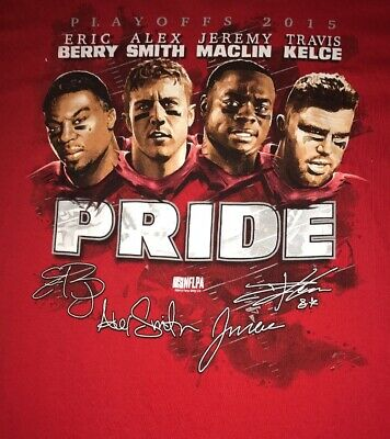 Kansas City Chiefs Pride 2015 Playoffs T-shirt Size XL Travis Kelcie Eric Berry for sale  Blue Springs