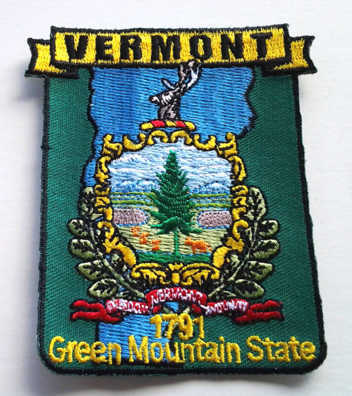 VERMONT STATE MAP Biker Patch PM6746 EE