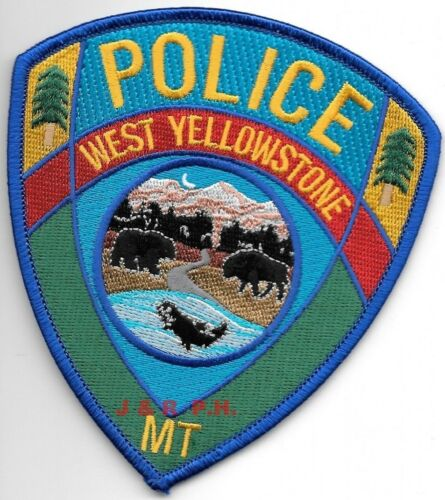 """West Yellowstone, Montana  (4"""" x 4.5"""" size) shoulder police patch (fire)"""
