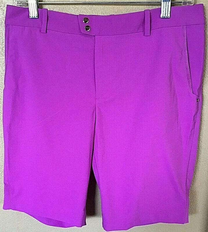 NWT Womens Ralph Lauren RLX Golf Shorts Size 10 Purple MSRP $125