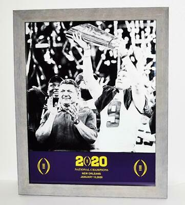 LSU NATIONAL CHAMPIONSHIP Jan 2020 Framed matted  ETCHED PICTURE 18 x 23 Lsu Framed Pictures