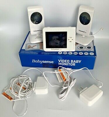 """BabySense - Video Baby Monitor with (2) 2.4GHz Cameras and 3.5"""" Screen V35_2WUS"""