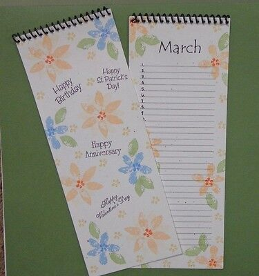 Blank Stampable Birthday Calendar Event List Rubber Stamps CS Lot of 2