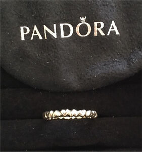 """Pandora """"Chain of Hearts"""" size 56 14ct gold ring brand new! Reduced!! Hanwood Griffith Area Preview"""