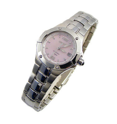 Seiko SXD655 Coutura Pink Mother-of-Pearl Dial Silver Tone Women's Watch