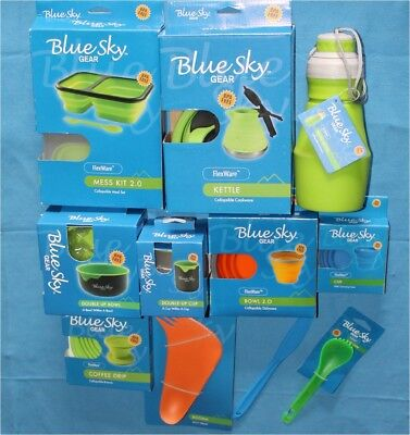 Blue Sky Gear FlexWare Camping Kettle Bowl Cup Bottle Booma Mess Kit Coffee Drip