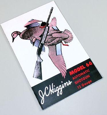 Auto Parts Manual (JC HIGGINS MODEL 66 AUTO SHOTGUN OWNERS PARTS GUN MANUAL INSTRUCTION 12 GUAGE)