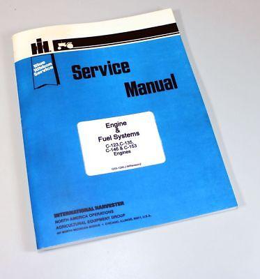 International Farmall T340 Crawler Tractor C135 Uc135 Engine Service Manual Shop