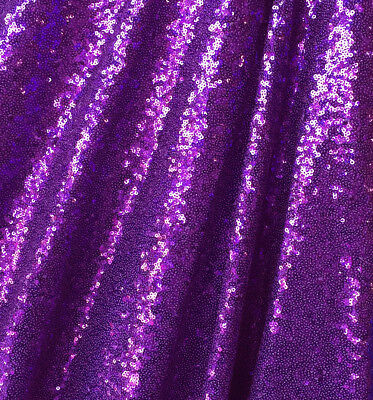 Purple Full Sequin Fabric for Dress, Purple Sequins Party Deco by the Yard