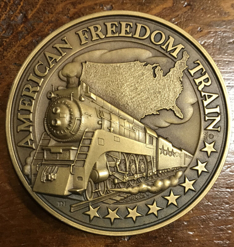 American Freedom Train 1776 - 1976 Bicentennial Journey Bronze Medal