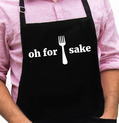 Oh For Forks Sake Funny Novelty Apron Gift for Dad, Husband, Fathers Day