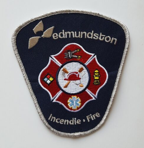 Edmundston New Brunswick Canada Fire Department patch, new condition