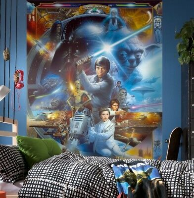 Christmas gift Star Wars wallpaper children's bedroom wall mural Luke skywalker