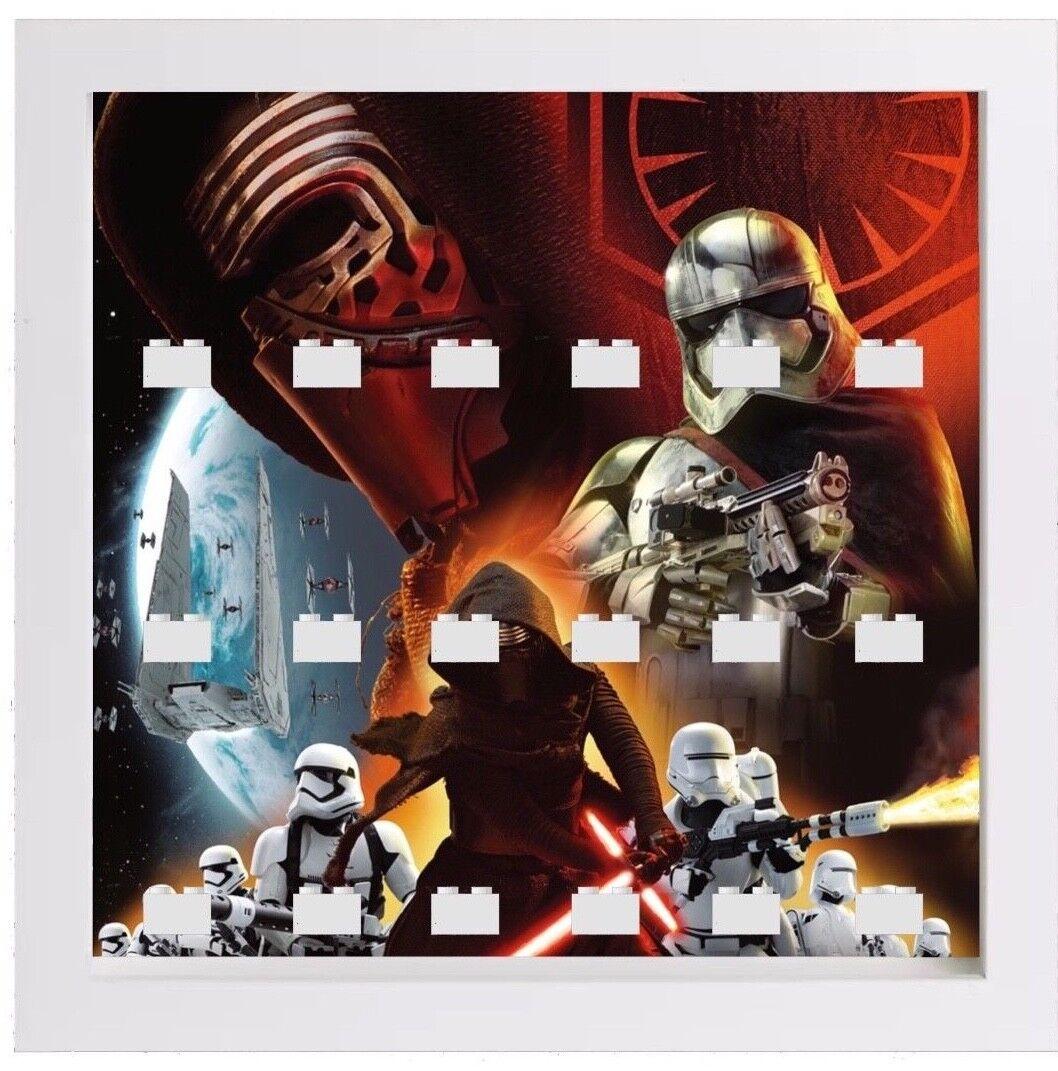 Lego Minifigure Display Frame Case Star Wars The Last Jedi Episode 8 kylo ren