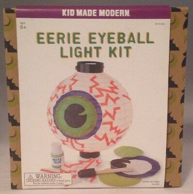 Eerie Eyeball Light Kit Halloween Decoration Project Ages 6+ Kid Made Modern New](Halloween Decorations Projects)