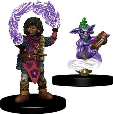 Wardlings Girl Wizard & Genie pet D&D Miniature Dungeons Dragons pathfinder - Wizard Pets