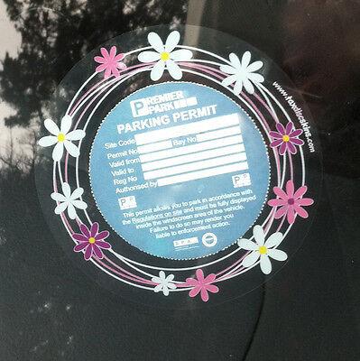parking permit DISC/MOT license Holder Pink Daisy Car Decals Sticker Accessory