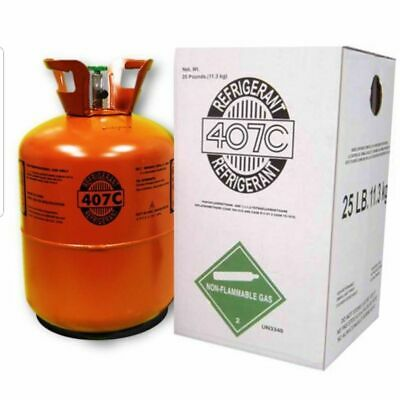 R407C-Refrigerant 25 Pound 407C FACTORY SEALED with oil R22 Replacement R 22*