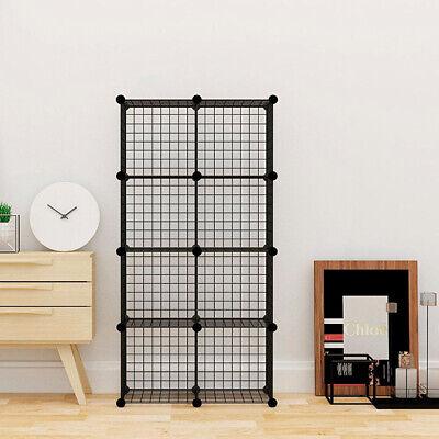 Estanteria Modular Metalica Libreria Baño 8 Cubos Moderna armario pared vitrina
