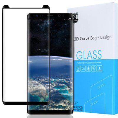 For Samsung Galaxy Note 8 Exact 【HD Clear】 Tempered Glass Screen Protector Black