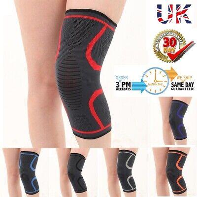 2 x Compression Knee Support Sleeve Bandage Strain/Sprain Injury Running Grey