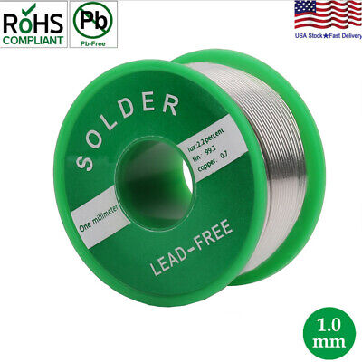 Lead Free Solder Wire Sn99.3 Cu0.7 With Rosin Core For Electronic 100g3.5oz 1mm