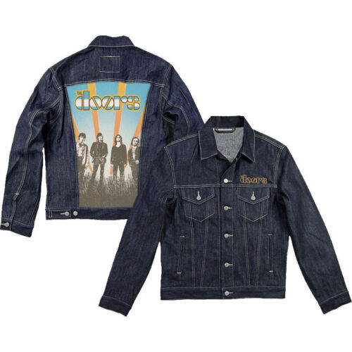THE DOORS OFFICIALLY LICENSED SUNRISE DENIM TOUR JACKET ADULT XL LAST ONE!!