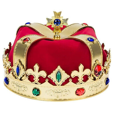 Crown Prop (Gold King's Crown Costume Accessory Hat)