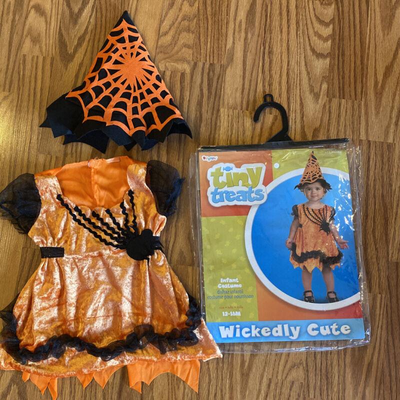 Girls Halloween Dress Costume &Hat Sz. 12-18 Months Wickedly Cute Tiny Treats