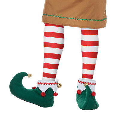 Elf Shoes Boots Christmas Santa Helper Adult Costume Accessory  - Santa Costume Boots