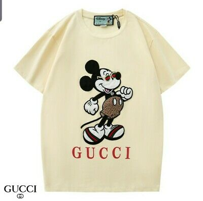 Gucci Disney's Cream Embroidered Micky Tshirt  MDXC