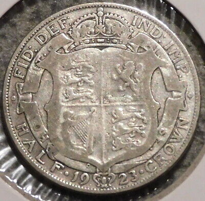 British Silver Half Crown - 1923 - King George V - $1 Unlimited Shipping