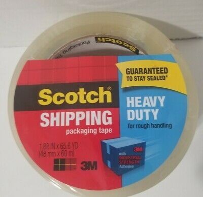 Scotch Shipping Packaging Clear Tape Rough Handling 1.88 X 65.6 Yards