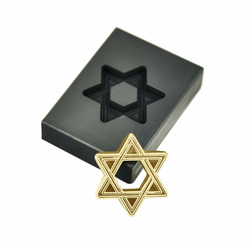 1 Oz Gold Hexagram Graphite Ingot Melting Mold Refining Casting Metals Necklace