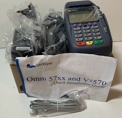 Verifone Vx5705700 New Dual Comm Mode 12 Mb Emv Scr Credit Card Reader