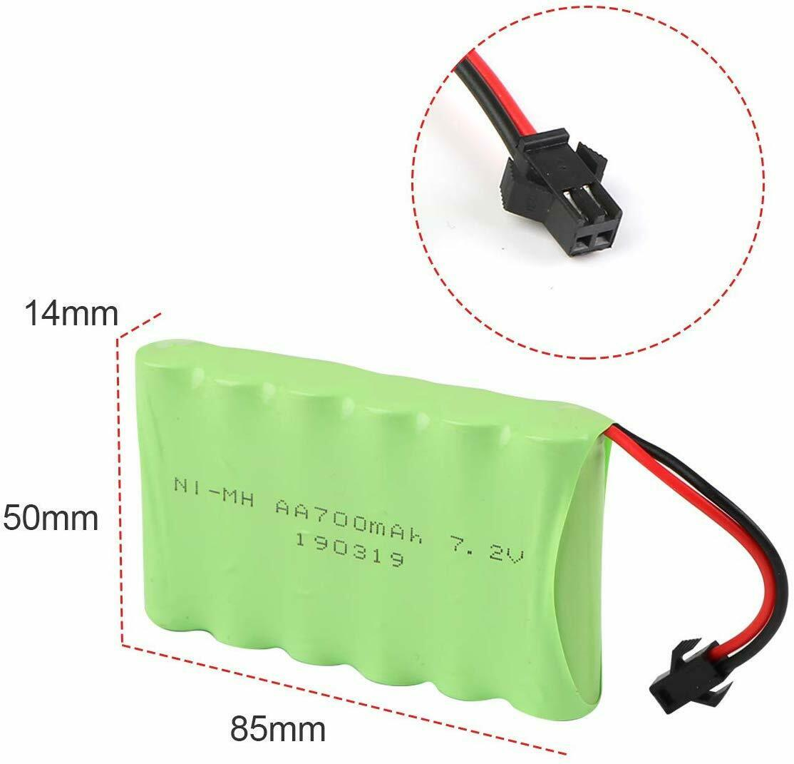 2pcs 7.2V 700mAh Battery Pack with SM Plug For 4WD RC Car Truck Toy Repalcement